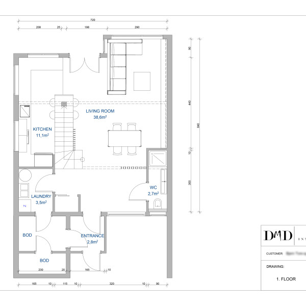 Floor plan after changes